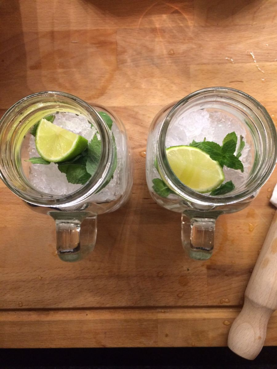 Apple Mint Mojitos